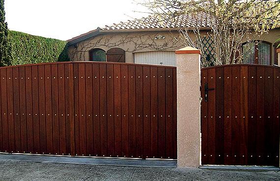 Sarl soula portails bois - Portail garage bois 2 vantaux ...